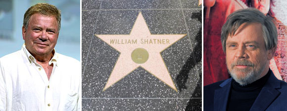 Shatner Taunts Hamill Over Hollywood Star