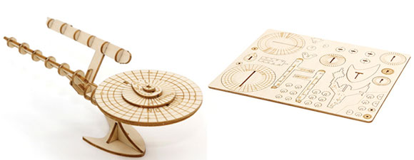Build Wooden Enterprise 1701 and 1701-D Model Ships