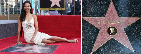 Saldana Receives Hollywood Star