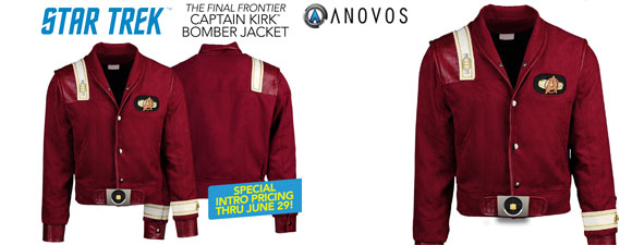 Star Trek V: The Final Frontier Kirk Bomber Jacket