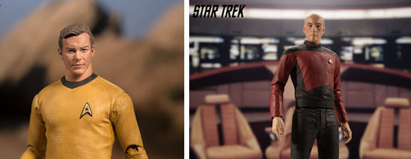 Kirk And Picard Action Figures