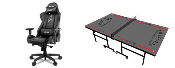 Star Trek Gaming Chair And Ping-Pong Table