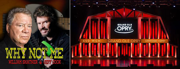 Shatner To Perform At The Grand Ole Opry