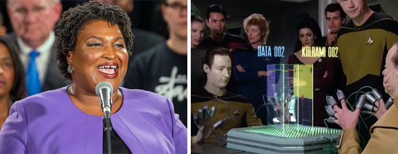 Georgia Politician Abrams Is A Big Trek Fan