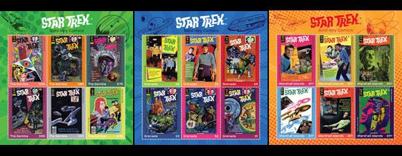 Star Trek Golden Key Comics Stamps