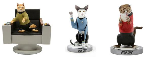 Star Trek Cat Statues