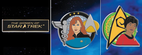 Women Of Star Trek FanSets Pin Set