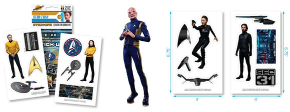 New STICK-UPZ Trek-Themed Stickers