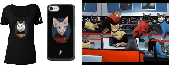 Star Trek Cat-Themed Merchandise
