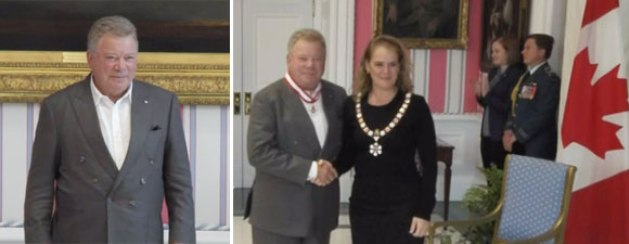 Shatner Received One of Canada's Highest Civilian Honors Today
