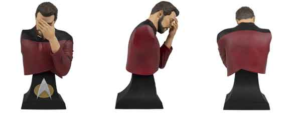 Riker Facepalm Mini Bust Paperweight
