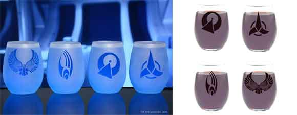Star Trek Alien Races Wine Glasses