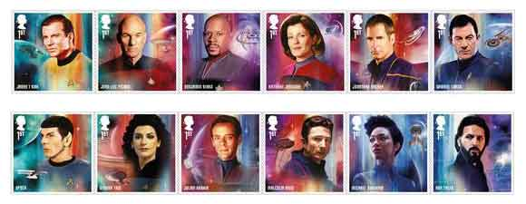 New Royal Mail Star Trek Stamps
