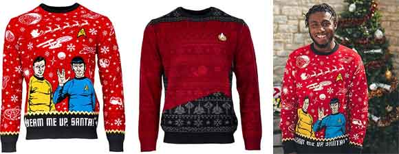Trek-Themed Ugly Christmas Sweaters