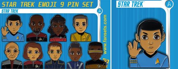 FanSets Star Trek Emoji 9 Pin Set
