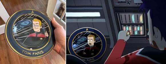 Star Trek: Lower Decks Tom Paris Commemorative Plate