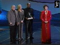 James Doohan, Jeri Ryan, Avery Brooks and Majel Barret Roddenberry - image courtesy the Official Jeri Lynn Rian Homepage