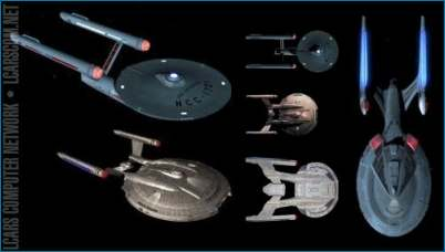 The NX-01 and other Federation ships - Courtesy LCARS Computer Network