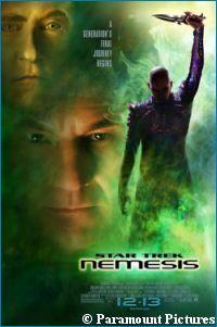 'Star Trek Nemesis' poster - courtesy StarTrek.com, copyright Paramount Pictures