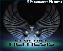 Star Trek X: Nemesis' logo - courtesy TrekWeb, copyright Paramount Pictures
