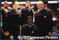 Enterprise Crew on the Bridge in Trek X: Nemesis - Copyright Paramount Pictures