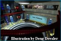 USS Defiant's Hangar Deck - Courtesy LCARS Computer Network