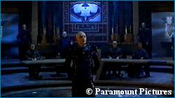 Shinzon in the Romulan Senate from 'Star Trek: Nemesis' - courtesy StarTrek.com, copyright Paramount Pictures