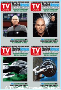 'Nemesis' TV Guide covers - copyright TV Guide/Paramount Pictures