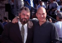Patrick Stewart & Brian Blessed at the 'Tarzan' Premiere - copyright Al Ortega, courtesy 'The Actor's Actor'