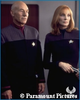 Picard & Crusher in 'Nemesis' - Courtesy Creation Entertainment - copyright Paramount Pictures