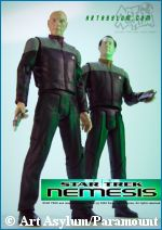 'Picard & Data action figures' - copyright Art Asylum/Paramount Pictures