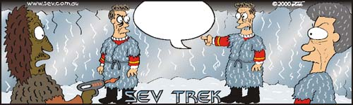 Sev Trek Cartoon Contest. Copyright 2000 by John Cook.