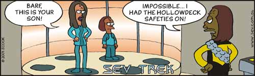 Sev Trek Cartoon Contest. Copyright 2001 by John Cook.