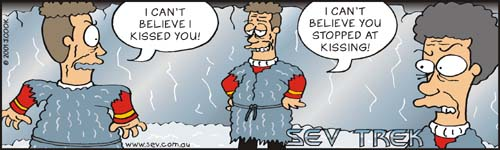 Sev Trek Comic Strip. Copyright 2001 by John Cook.