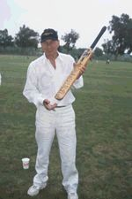 Patrick Stewart plays cricket - copyright Eon Magazine