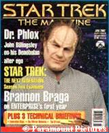 'Star Trek: The Magazine' - June issue -  copyright Paramount Pictures