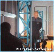 Patrick Stewart being scanned - copyright Toy Fare/Art Asylum