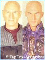 Picard/Shinzon figure comparison - copyright Toy Fare/Art Asylum