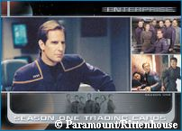 'Enterprise Trading Card' - courtesy Psi Phi, copyright Paramount Pictures/ Rittenhouse Archives