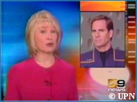 Scott Bakula on UPN 9 News - copyright UPN